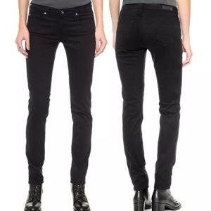 AG The Stilt Cigarette Leg Super Black Pants 26R